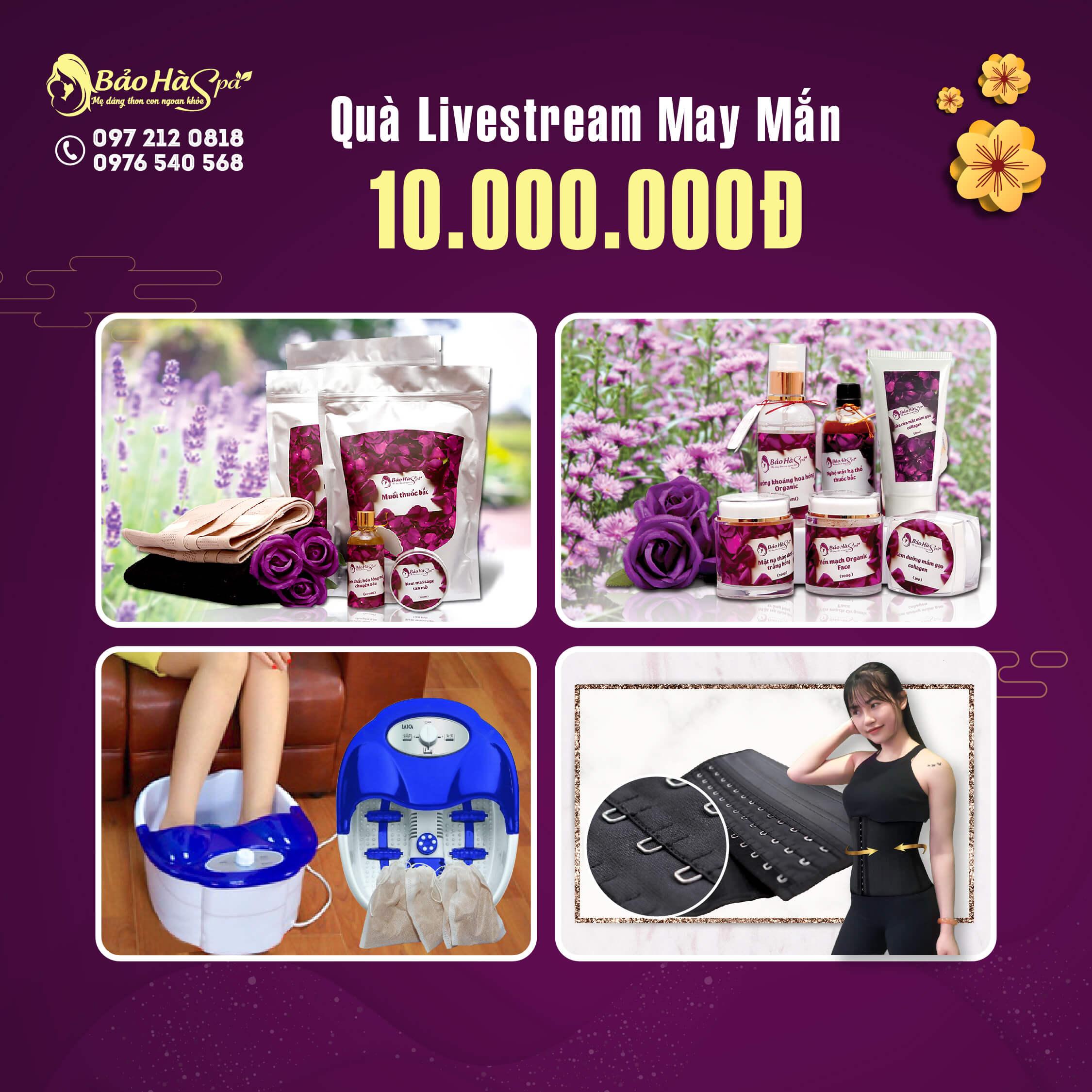 """MiniGame """"Hái Lộc Đầu Xuân"""" trị giá 200 triệu đồng tại Bảo Hà Spa"""
